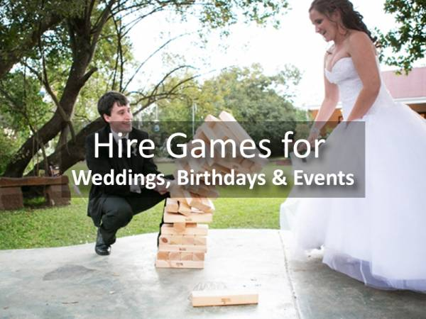 Hire Games for Weddings, Birthdays & Events   Jenjo Games