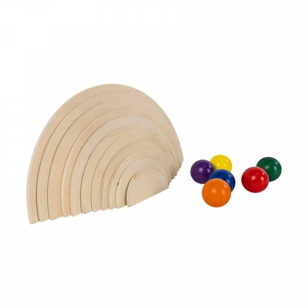 Natural Semi-Circles & Rainbow Balls